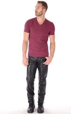 Men in hot boots or cool leather and some piercing: Photo Mens Leather Pants, Men's Leather, Leather Jackets, Bald Men Style, Leather Fashion, Mens Fashion, Masculine Style, Mode Masculine, Hommes Sexy