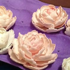 Handcrafted gum paste peonies. Approximately 3 hours of work each.