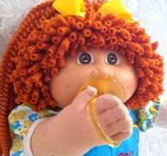 VINTAGE CABBAGE PATCH PACI GIRL DOLL CUSTOM PENCIL CURL LIONS MANE CLOTHES SHOES