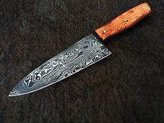 HANDMADE DAMASCUS steel CHEF KNIFE  ( 2mm ) thickness (AMEEZING PATTERN) MAPAL #HANDMADE