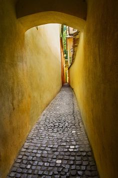 Rope Street, Brasov, Romania - one of the narrowest streets in Europe Turin, Bulgaria, Travel Pictures, Cool Pictures, Wonderful Places, Beautiful Places, Milan Kundera, Brasov Romania, Little Paris