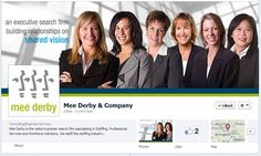 Great Facebook Cover Photo: Recruiting firm Mee Derby launches a fantastic new Facebook business page to match the look and feel of their new website.
