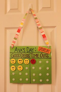 Good Deed / Time Out Chart  This may be a good idea for grandma's house :)