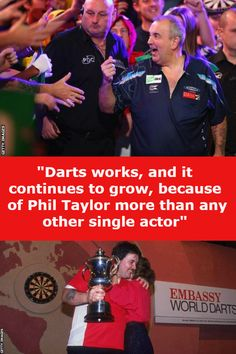 Phil Taylor might look an unlikely revolutionary and an unlikely sporting hero. But the world darts champion from Stoke is his sport's royalty, the face of its establishment and the guts of its popular appeal. Sport Inspiration, World Championship, Darts, Revolutionaries, Royalty, Hero, Popular, Face, Royals