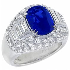 3.11ct Cushion Cut Ceylon Sapphire 2.10ct Baguette & Round Cut Diamond Platinum Ring - See more at: http://www.newyorkestatejewelry.com/rings/3.11ct-ceylon-sapphire-2.10ct--diamond-ring-/23672/1/item#sthash.Mqlnvug6.dpuf