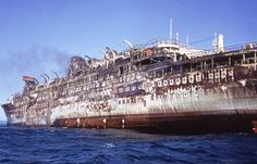 ss cristoforo colombo   Sad end for a much loved ship in january 1971 :
