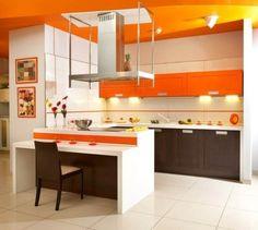 30 Fotos de cozinhas de cor laranja