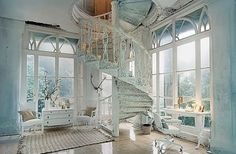 i always wanted a spiral staircase.