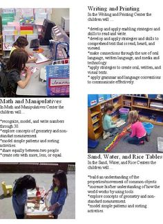 Learning Intentions for discovery centers Creative Curriculum Preschool, Emergent Curriculum, Preschool Centers, Preschool Learning, Early Learning, Visible Learning, Learning Through Play, Learning Stories Examples, Reggio Classroom