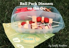 Ball Park Dinners on the Go Need meals to go on busy nights? Trying to eat dinner at soccer practice? These easy dinners on the go are a must for busy families.