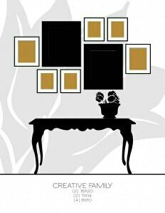 Let the Grouping be Intersting Even if the Photos are Not, or one photo collage layout that works. Photowall Ideas, Picture Arrangements, Wall Groupings, Room Decor, Wall Decor, Interior Exterior, Home Hacks, Interiores Design, Home Decor Inspiration
