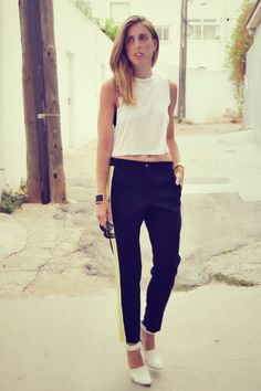 #Asos crop top, asos pants,# céline , shoes , #streetstyle #choies