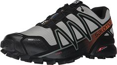 Salomon Speedcross 4 CS Trail Running Shoe - Men's Autobahn/Detroit/Orange Rust, US Athleisure, Addidas Sneakers, Active Wear, Homecoming Shoes, Salomon Shoes, Mountaineering Boots, Womens Fashion Sneakers, Men Fashion, Fashion Shoes