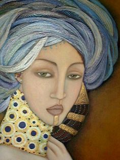 Traditional Female Faces by Faiza Maghni