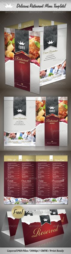 Delicious Restaurant Menu Template PSD. Download here: http://graphicriver.net/item/delicious-restaurant-menu-template/2021633?s_rank=121&ref=yinkira