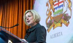 Rachel Notley supports a switch to clean energy to help Canada's biggest oil-producing province move beyond fossil fuels within a century
