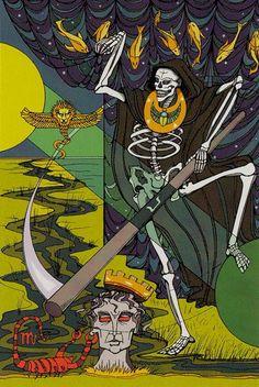Death Tarot Card Art | Tarot of the Sephiroth Deck | Major Arcana Cards | Oracle | Divination