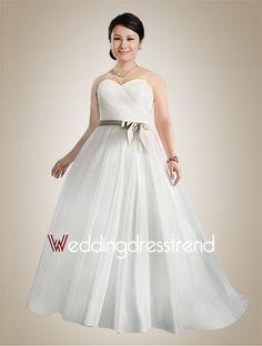 Noble A-line Sweetheart Floor-length Plus Size Wedding Dress