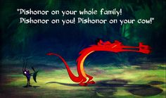 My favorite part is when we meet mushu he's hilarious and he helps Mulan get through the war. Funny Movies, Good Movies, Movie Memes, Comedy Movies, Movie Tv, Disney Love, Disney Magic, Funny Disney, Disney Stuff