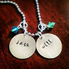 Hand Stamped Customized Circle Charm Name by HippieSwankBoutique, $28.00
