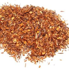 Rooibos organic and fair trade certified: Cultivated in South Africa, Rooibos is known for its flavourful caffeine free liquor, deep and dark with a full body and sweet finish.  Tastes good hot or iced.    **Caffeine free