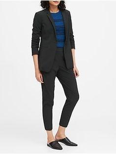 Women's Blazers | Banana Republic Cute Blazers, Black Blazers, Women's Blazers, Women's Summer Fashion, Work Fashion, Fashion Ideas, Fashion Outfits, Work Looks, Mom Outfits