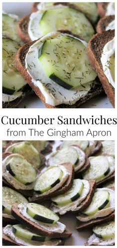 Cucumber Sandwiches- perfect for tea parties, grad receptions, Mother's Day, etc. Simple and delicious!