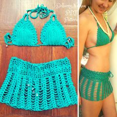 "Crochet Bikini Bra Pattern & Crochet Skirt Pattern,""Tigerlily"" Crochet Bikini Bra with matching Crochet Boho Skirt Sizes XS to L Crochet Bodycon Dresses, Black Crochet Dress, Crochet Skirts, Crochet Lace, Crochet Tops, Crochet Skirt Pattern, Bra Pattern, Crochet Patterns, Crochet Bathing Suits"