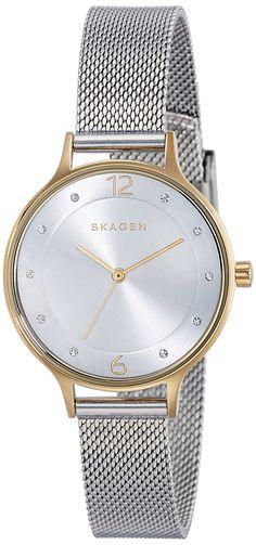 Skagen damen armbanduhr gitte analog quarz leder skw2262