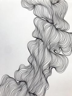 Abstract line art, black and white modern drawing, organic line shape moder Modern Drawing, Line Drawing, Drawing Art, Drawing Ideas, Black And White Lines, Black And White Abstract, Abstract Line Art, Abstract Shapes, Line Flower