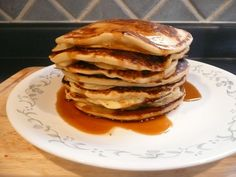 Who doesn't love pancakes? That's one of the things I missed the most when I had to stop eating wheat so I quickly developed a recipe so I didn't have to miss out any more. Gluten Free Pancakes, Stop Eating, Gluten Free Recipes, Free Food, Breakfast, Real Life, Breakfast Cafe, Gluten Free Menu