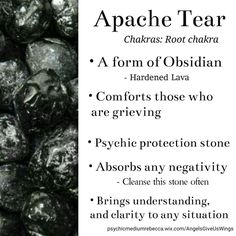 Apache Tear crystal meaning