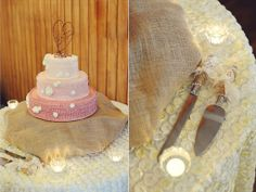 pink and white ombre wedding cake