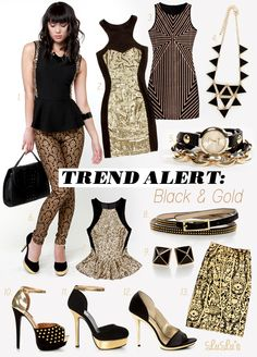 Love love love black and gold!