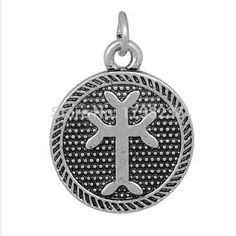 High Quality Antique Silver Plated Vintage Styles Round Plate Charm Jewelry Accessories Making