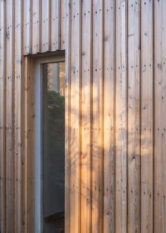 untreated larch board on board cladding - Highlever Road - Haptic Wood Cladding Exterior, Larch Cladding, Wooden Cladding, House Cladding, Wooden Facade, Timber Slats, Victorian Buildings, Victorian Homes, Architects Journal