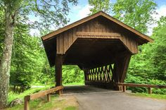 The Springville Volunteer Bridge was finished in 1997 for a cost just under $50,000. It replaced an old steel and concrete bridge. Since the township wanted a one-way covered bridge, the state only gave the township 10% of the cost instead of 90%.