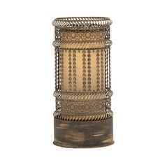 Illuminate your living or home office space with this wonderfully ornate light piece. This Tazzarine Accent Light is exquisitely crafted from metal and features delightfully intricate gold-finished det...  Find the Tazzarine Accent Light, as seen in the Moods of #Indigo Collection at http://dotandbo.com/collections/moods-of-indigo?utm_source=pinterest&utm_medium=organic&db_sku=111140