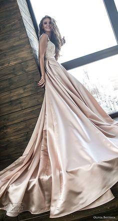 olivia bottega 2018 bridal off the shoulder sweetheart neckline heavily embellished bodice satin skirt romantic a line wedding dress chapel train (10) sdv -- Olivia Bottega 2018 Wedding Dresses