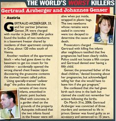 Gertraud Arzberger, and her partner Johannes Genser, were charged with murder. Weird Facts, Fun Facts, True Crime Books, Real Monsters, Stick Art, True Detective, Normal Person, Creepy Stuff, Criminology