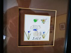 Sea Glass, Puppies, Frame, Projects, Home Decor, Log Projects, Homemade Home Decor, Puppys, A Frame