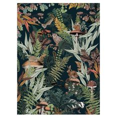 La Redoute presents at Casa Decor 2020 a beautiful and inspiring bedroom that you can also replicate in your home Forest Creatures, Woodland Creatures, Mushroom Wallpaper, Home Furnishing Accessories, Forest Wallpaper, Collage Art, Bunt, Stuffed Mushrooms, Am Pm