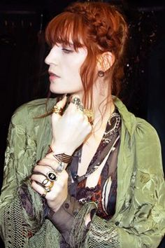 """Vogue - """"FLORENCE WELCH has created a capsule jewellery collection exclusively for her Flotique webstore and inspired by her album Ceremonials, which the Florence and the Machine singer finished touring at the end of 2012."""""""