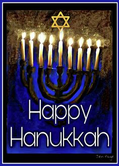 Jennifer Page Digital Art - Happy Hanukkah by Jennifer Page