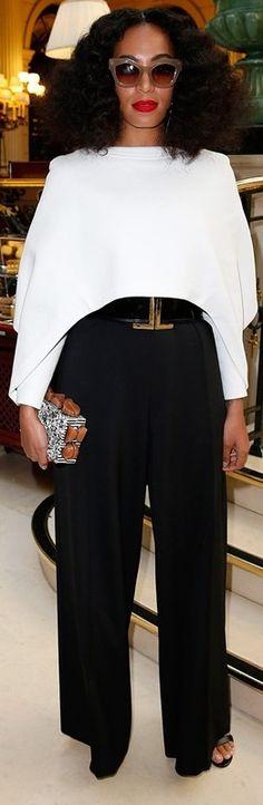 Solange Knowles at Balmain Fashion Show #PFW