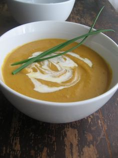 sweetsugarbean: Curried Butternut Squash Soup With Coconut Milk