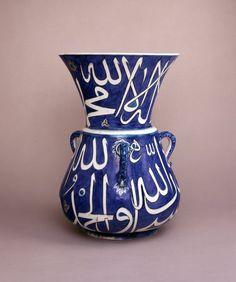 mosque-lamp; Ottoman dynasty; 16thC; Iznik