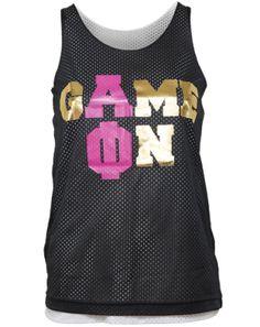 Alpha Phi Game On Jersey - APhi Fraternity apparel. Alpha Phi Sorority, Alpha Epsilon Phi, Sigma Kappa, Sorority Shirts, Theta, Alpha Phi Crafts, T Shirt Time, Greek Shirts, Sorority Outfits