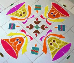 Check out these gorgeous rangoli designs for Christmas. Decorate your house and office with these breath-taking Christmas rangoli and kolam designs. Christmas Tree With Gifts, Christmas Bells, Simple Christmas, Christmas Border, Christmas Train, Beautiful Rangoli Designs, Kolam Designs, Rangoli Colours, Kolam Rangoli