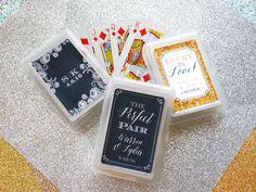 SET Of 10 Custom Playing Card Wedding Favor